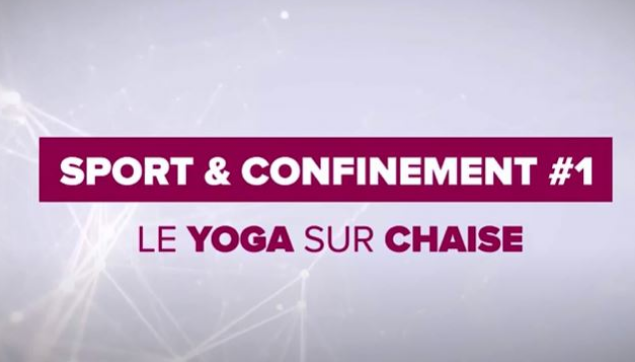 Alternance at home - #1 Sport et Confinement - Yoga sur chaise